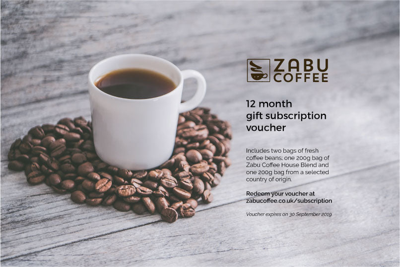 12 month subscription gift voucher