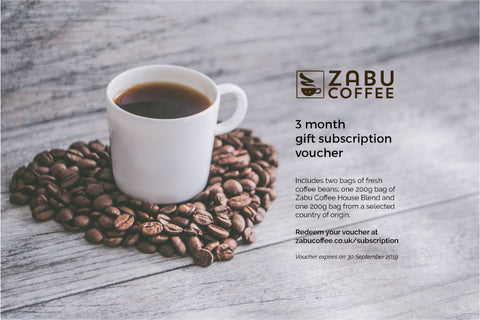 3 month subscription gift voucher