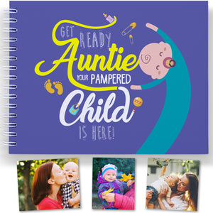 THE BEST AUNTY GIFT - Baby memory book to treasure the best moments with auntie and baby.