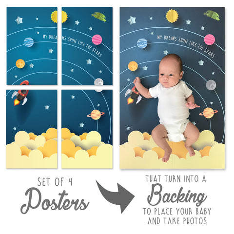 BABY BACKDROP - Space world
