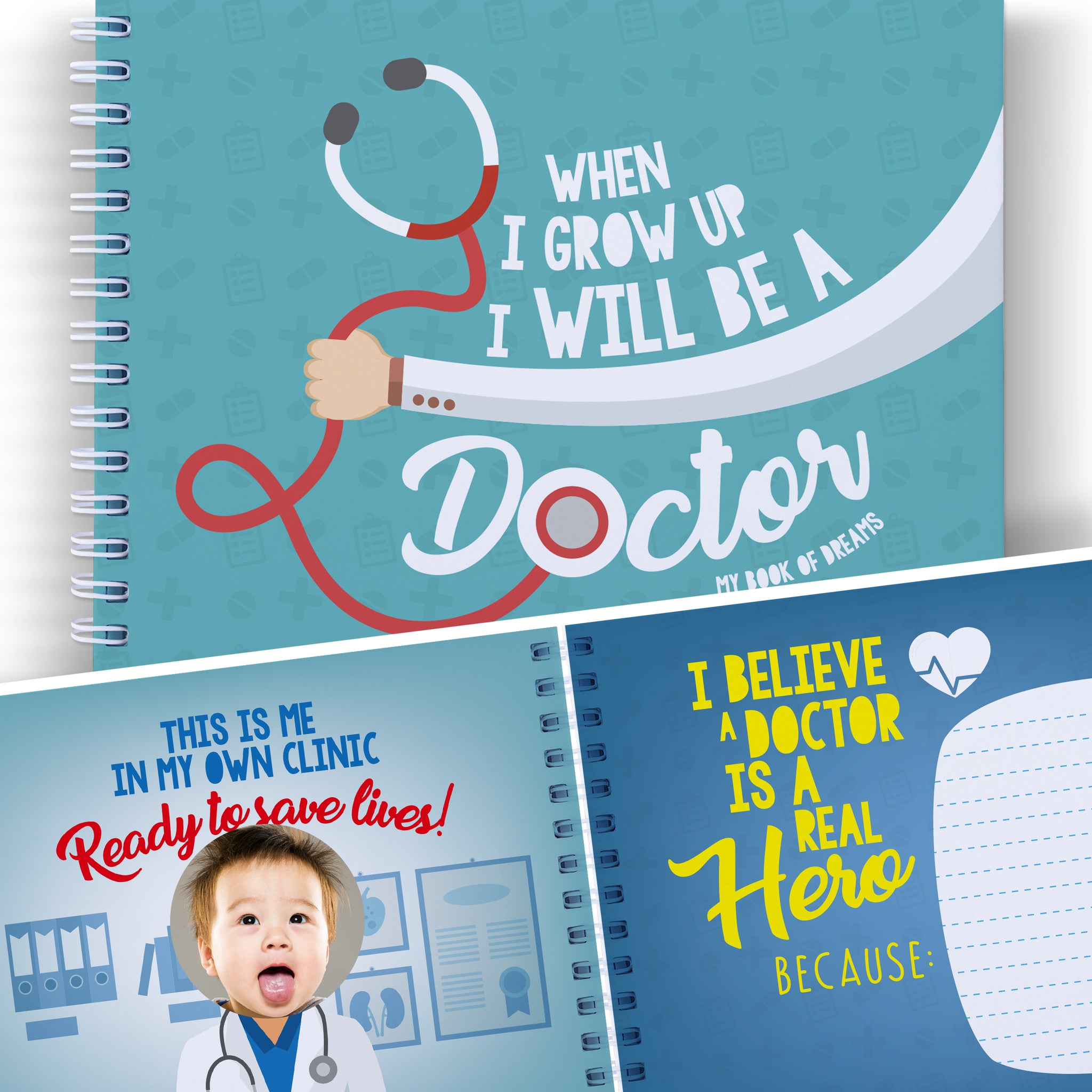 WHEN I GROW UP I WILL BE A DOCTOR - Let's Write the Future with This Memory Book of Dreams.