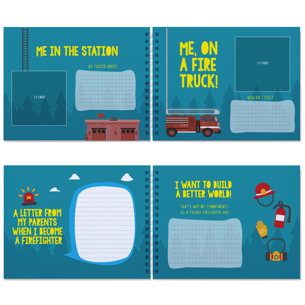 FIREFIGHTER BOOK FOR KIDS: When I Grow Up I Will Be a Firefighter - Let's write about the future with this memory book of dreams.