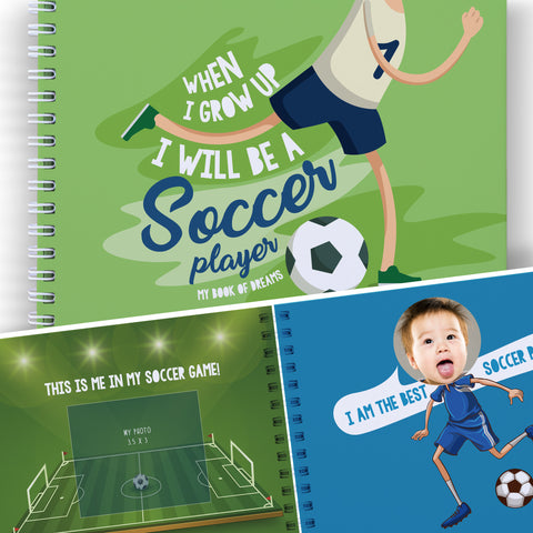 WHEN I GROW UP I WILL BE A SOCCER PLAYER - Gifts for Boys and Girls, Art Activity for Children, Educational Kids Presents, World Cup 2018