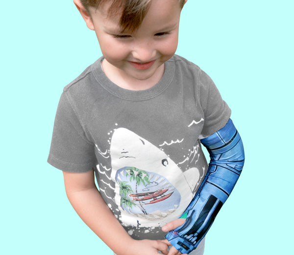 Arm Cast Cover For 3-6 Years Old Kids - Long Arm Robot Design.
