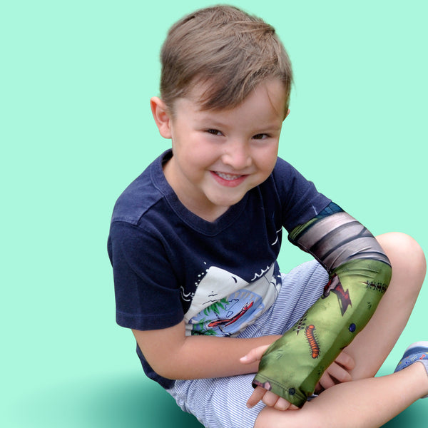 long arm cast cover for kids injury
