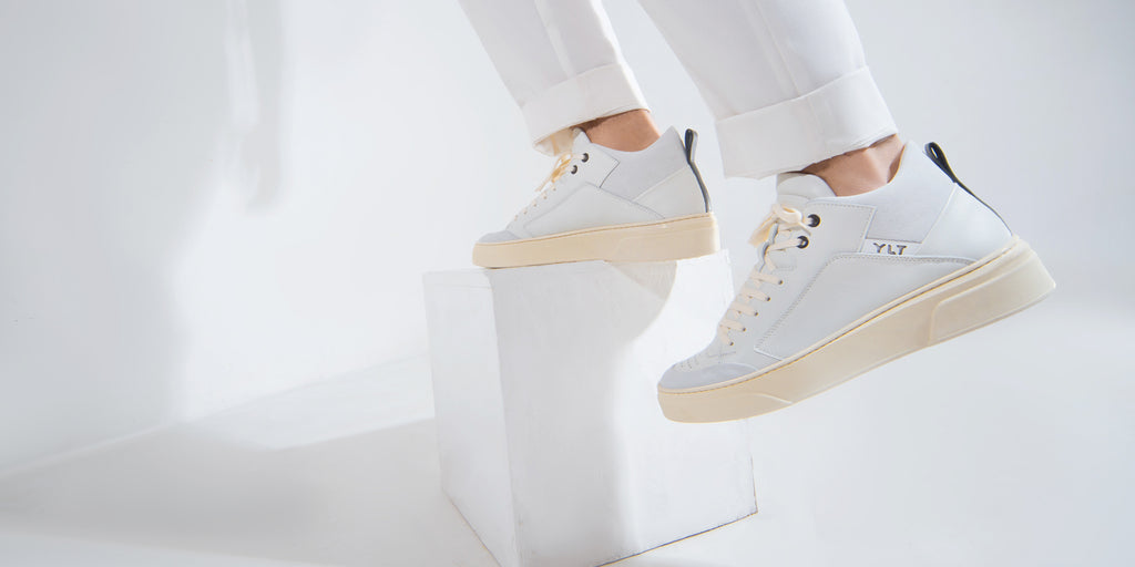Italian white leather sneakers