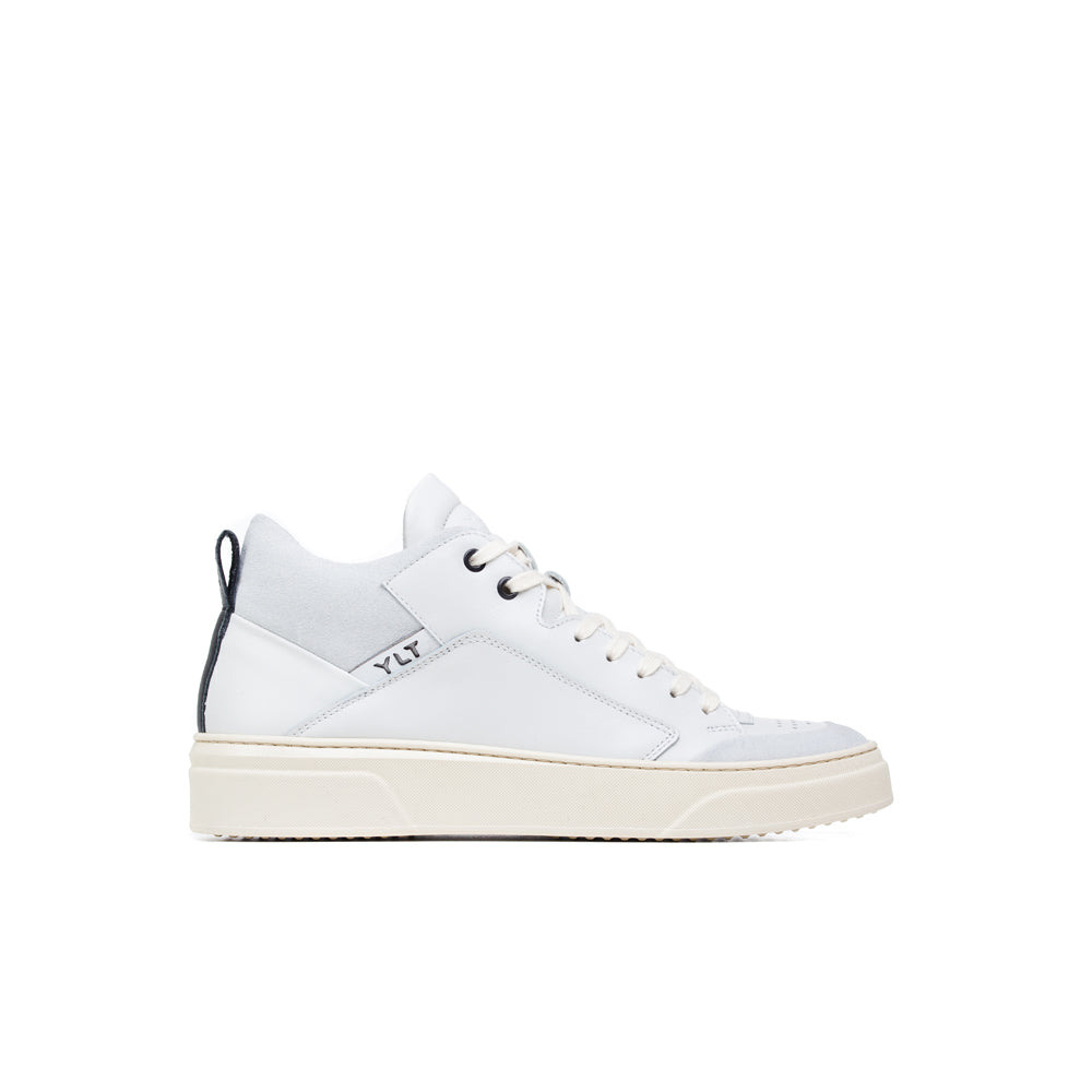 White Italian leather sneaker