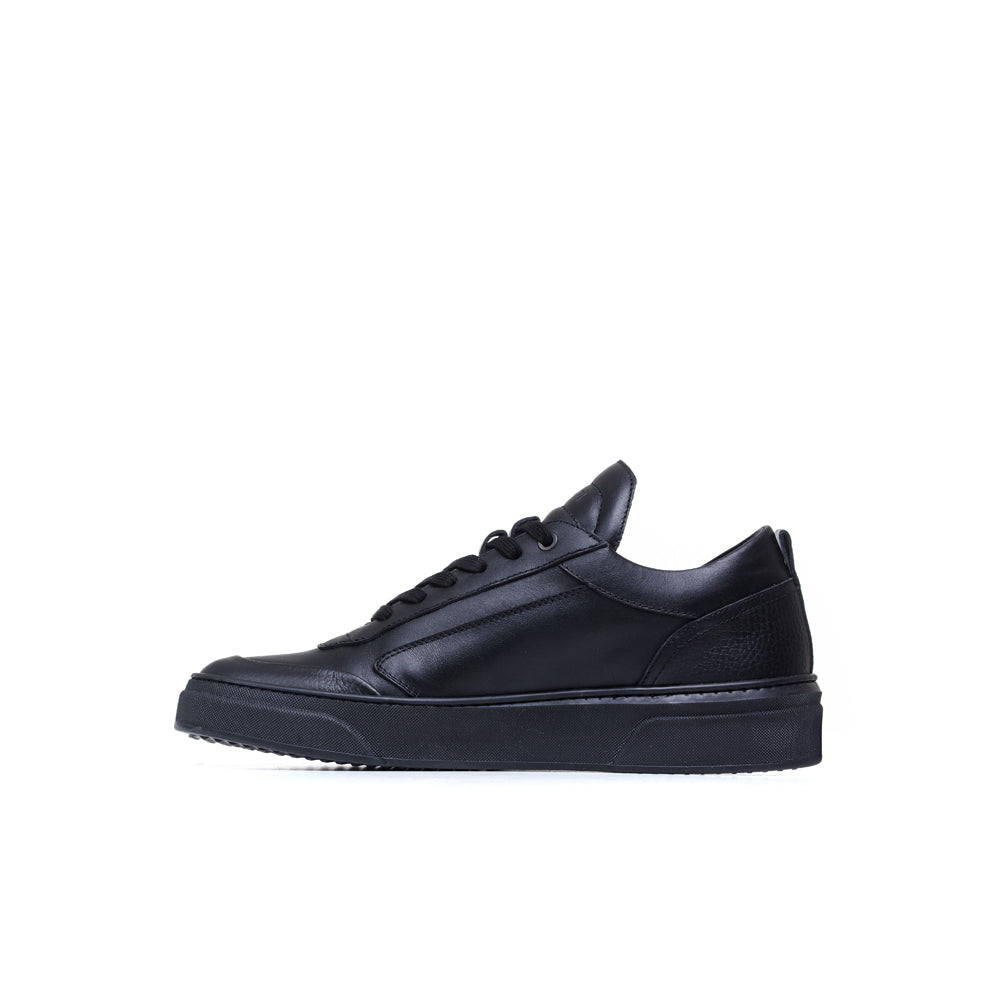 all black low finest quality leather footwear handcrafted in Italy