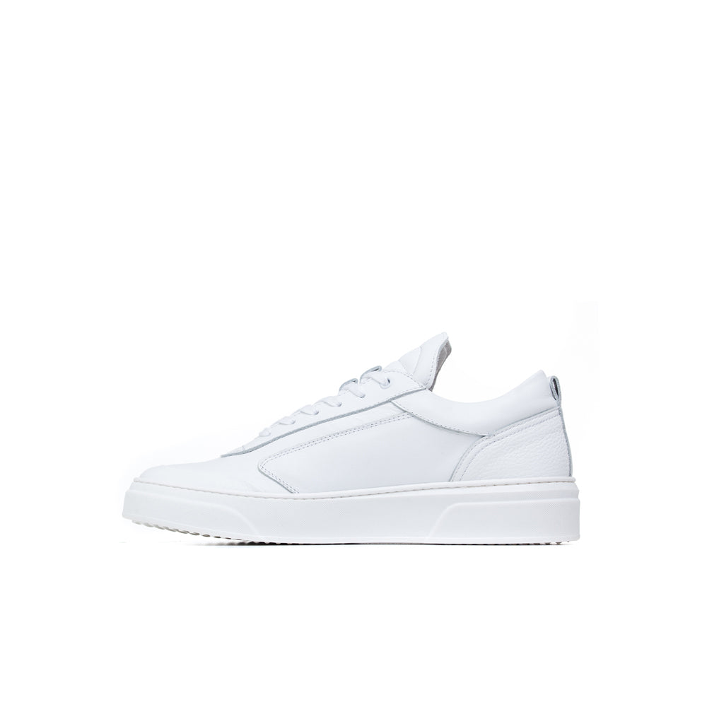 white calf Italian leather sneakers