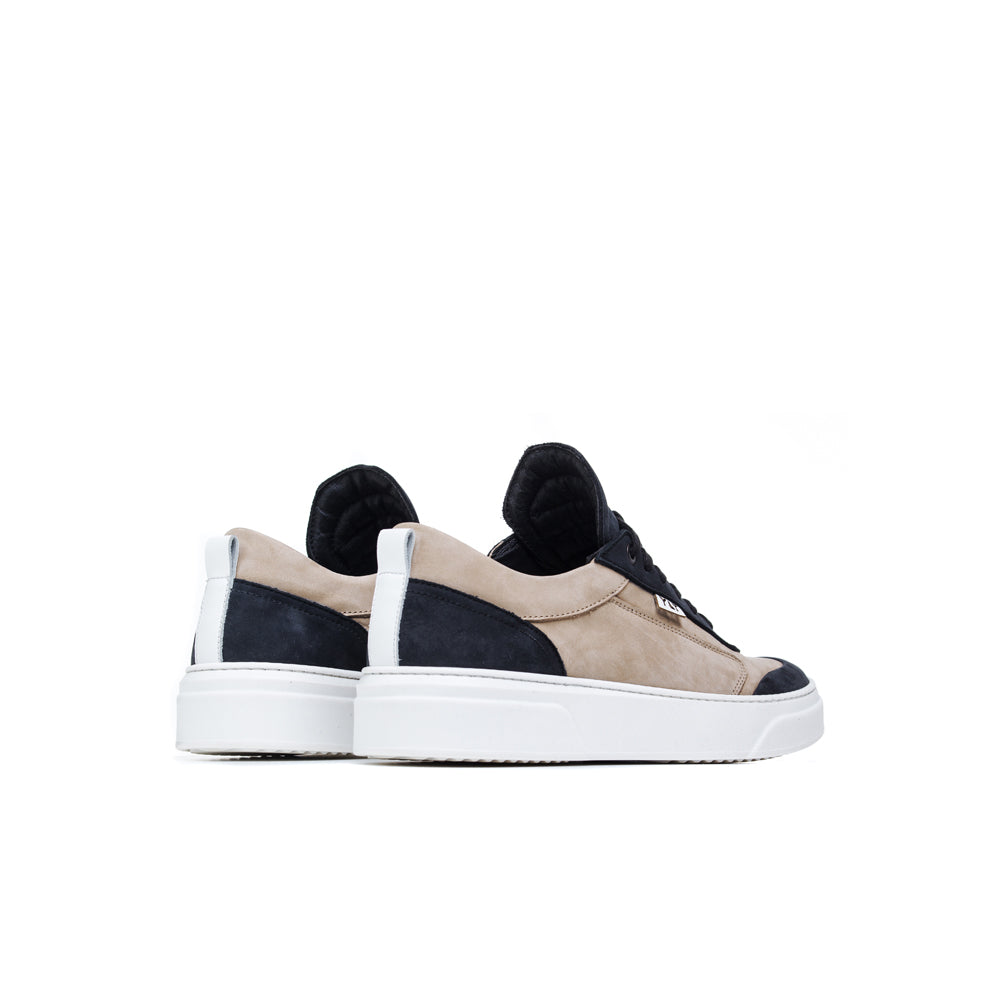 leather contrast details nabuck soft Italian low footwear