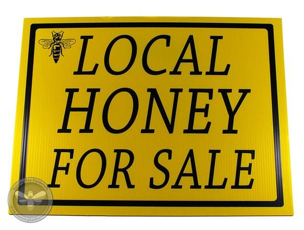 Local Honey For Sale - Sign
