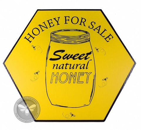 Sweet Natural Honey For Sale - Sign