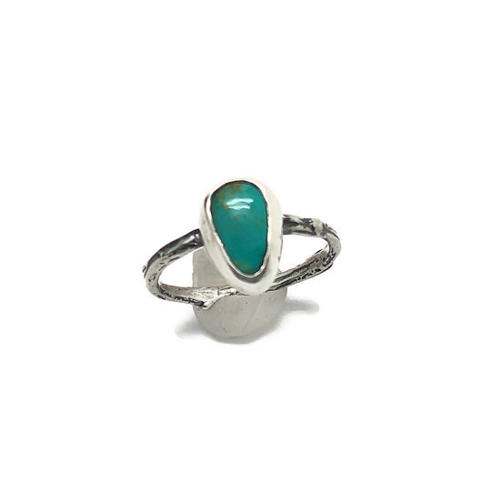 Sticks 'n Stones - Sterling Silver and Royston Turquoise Stacker Twig Ring Size 6