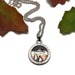 Sterling Silver and Mixed Metals Alpine Pendant