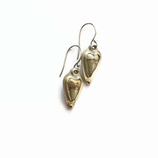 Willow Creek Jasper Heart Earrings