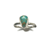 sterling silver twig and royston turquoise stacker ring