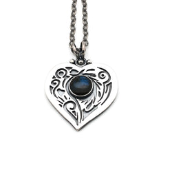 Zen Heart with Labradorite Gemstone