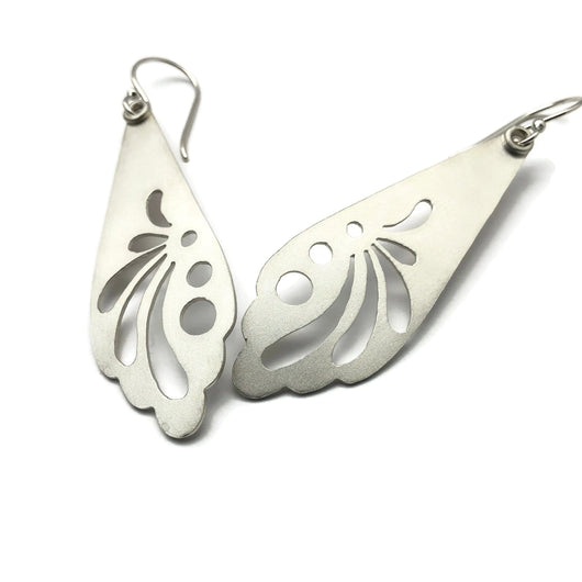 Flutter Earrings - Sterling Silver - Hand Pierced
