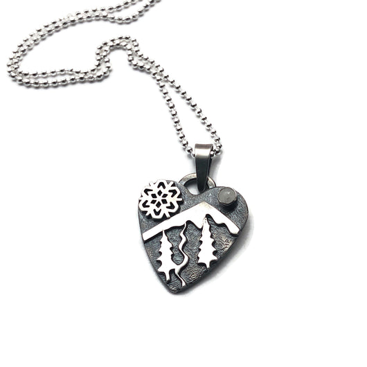 Winter Alpine Heart Necklace