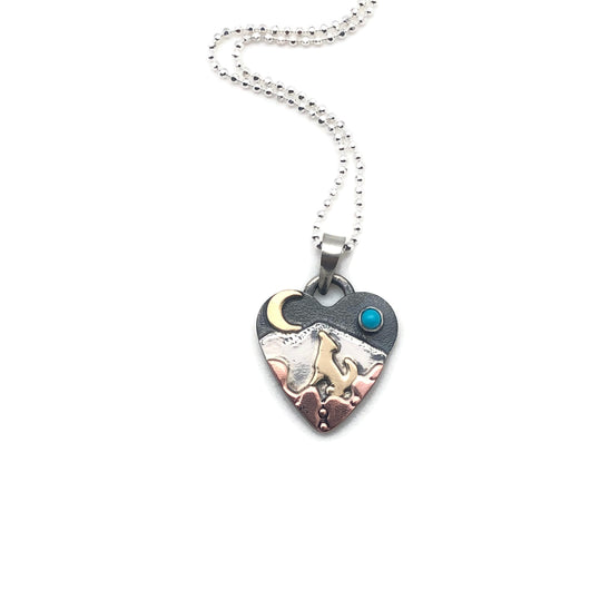 Special Request for CD Ritter - Alpine Heart - Small - Mixed Metals - Coyote Song, Howl