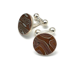 Mokume Gane Cuff Links for Men