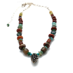 Beaded Pine Cone Necklace