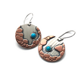 River Crossing Earrings - Round