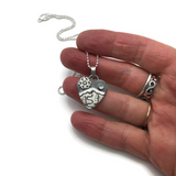 Alpine Heart - Small - Let It Snow - Sterling Silver with White Topaz