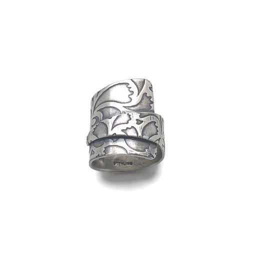 sterling silver textured wrap ring