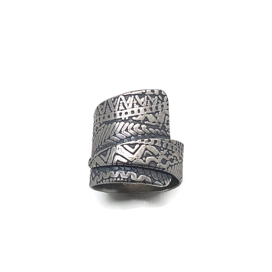 Sterling Silver Wrap Style Ring - Texture 2