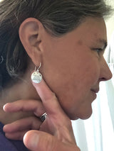 sterling silver stamped mountain earrings