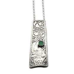 Botanical Garden Necklace Sterling Silver with Chrysoprase