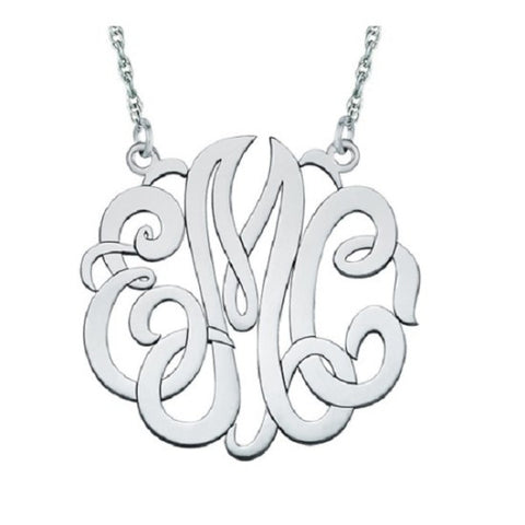 3 Letter Monogram Necklace