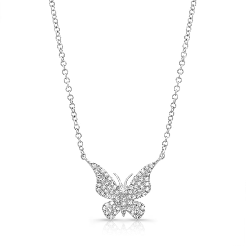 Diamond Pave Butterfly
