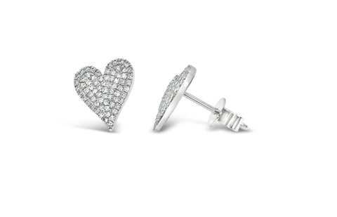 Diamond pave hearts