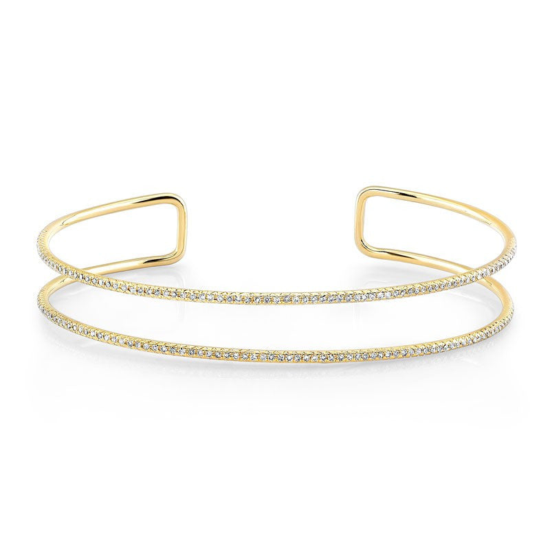 Double Row Diamond Cuff