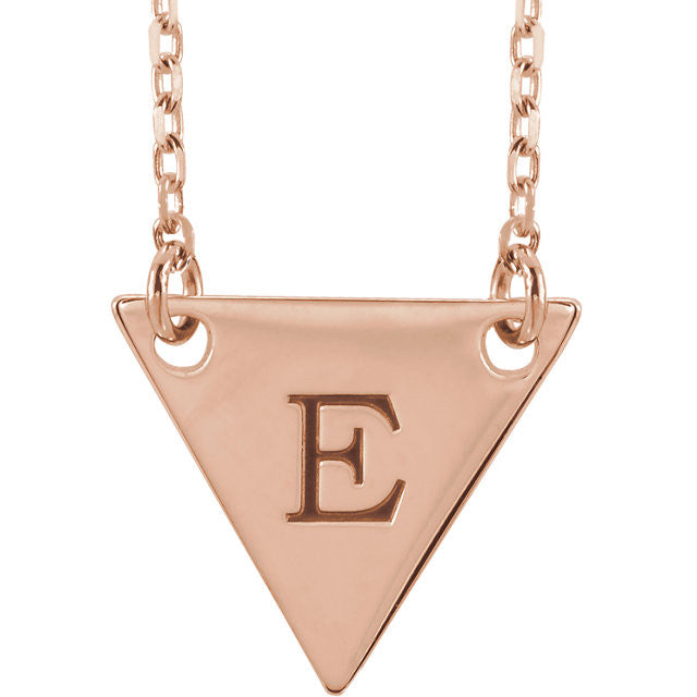 Engravable Triangle Necklace