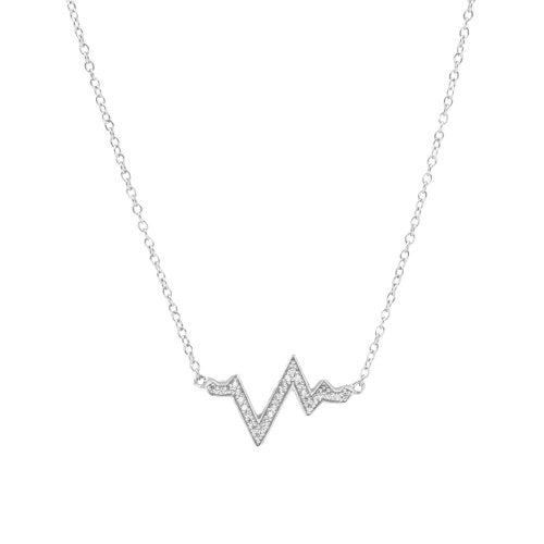 Heart Beat Necklace-Sterling Silver