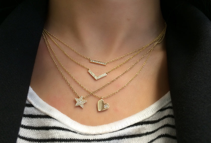 Diamond Pave Star Necklace