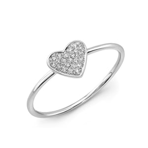 Diamond Petite Heart Ring