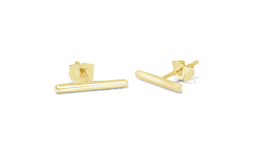 Medium Gold Bar earrings