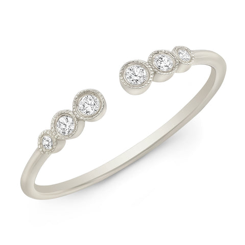 Milgrain Bezel Cuff Diamond Ring