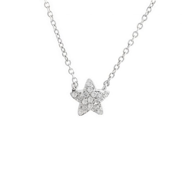 Mini diamond star necklace