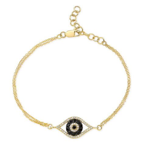Open Evil Eye Diamond Bracelet