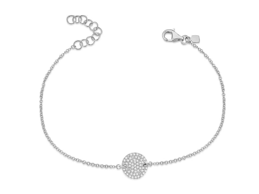 Pave Diamond Disc Bracelet