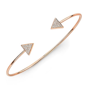 Diamond Pave Triangle Cuff Bangle
