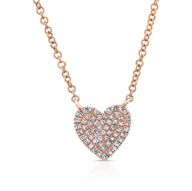 Pave Diamond Heart