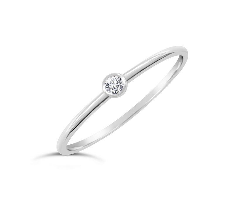 Petite Diamond Bezel Ring