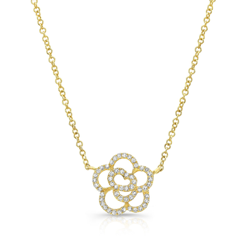 Rosette Diamond Necklace