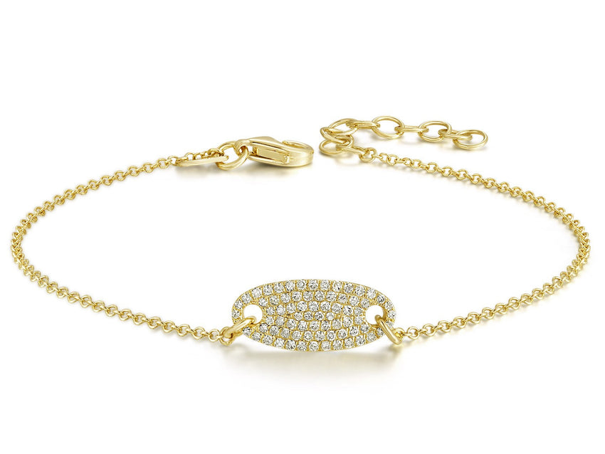 Small oval pave diamond Bracelet
